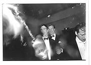 Richard Ferrard. Charlie Gooch spraying champagne Sandhurst 1987© Copyright Photograph by Dafydd Jones 66 Stockwell Park Rd. London SW9 0DA Tel 020 7733 0108 www.dafjones.com
