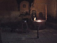 The old kitchen in the Convent of Santa Catalina, Arequipa, Peru.<br />