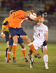 Virginia Cavaliers F Yannick Reyering (11).  The Virginia Cavaliers Men's Soccer Team lost to the Wake Forest Demon Decons in penalty kicks in the semifinal round of the 2006 ACC Tournament on November 3, 2006 at the Maryland Soccerplex in Germantown, MD.