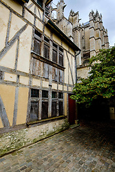 Detail of an old house near St Peter's Cathedral (La Cathédrale Saint-Pierre), Beauvais, France<br /> <br /> (c) Andrew Wilson | Edinburgh Elite media
