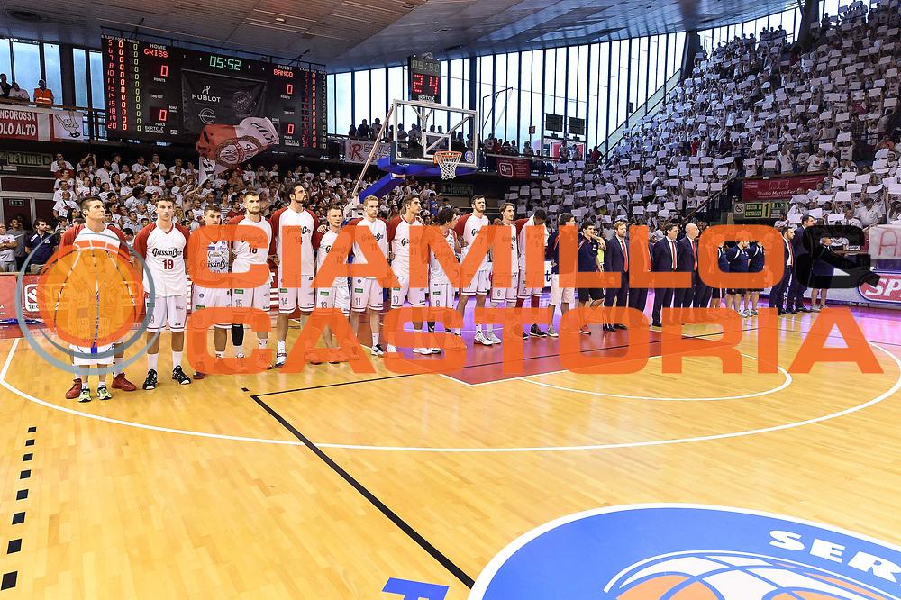 DESCRIZIONE : Campionato 2014/15 Serie A Beko Grissin Bon Reggio Emilia -  Dinamo Banco di Sardegna Sassar Finale Playoff Gara1<br /> GIOCATORE : Grissin Bon Reggio Emilia Team<br /> CATEGORIA : Before Pregame<br /> SQUADRA : Grissin Bon Reggio Emilia<br /> EVENTO : LegaBasket Serie A Beko 2014/2015<br /> GARA : Grissin Bon Reggio Emilia - Dinamo Banco di Sardegna Sassari Finale Playoff Gara1<br /> DATA : 14/06/2015<br /> SPORT : Pallacanestro <br /> AUTORE : Agenzia Ciamillo-Castoria/GiulioCiamillo