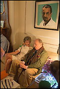 LADY SPENCER-CHURCHILL; MARIO BUATTA, Nicky Haslam hosts a party to launch a book by  Maureen Footer 'George Stacey and the Creation of American Chic' . With a foreword by Mario Buatta. Kensington. London. 11 June 2014