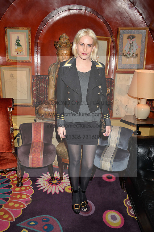 INDIA ROSE JAMES at an intimate performance by All Saints held at Annabel's, 44 Berkeley Square, London on 4th May 2016.