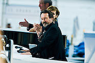 Jean-Hugues Anglade on the set of Grand Journal Canal +