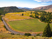 A view of Tygh Valley  and Or Highway 216 between Tygh Valley and Wamic.