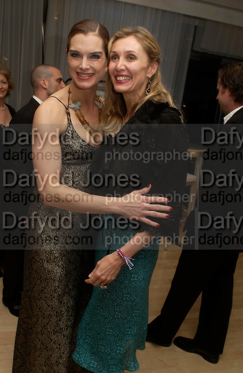 Brooke Shields and Allegra Hicks. An evening in aid of cancer charity Clic Sargent held at the Sanderson Hotel, Berners Street, London on 4th July 2005ONE TIME USE ONLY - DO NOT ARCHIVE  © Copyright Photograph by Dafydd Jones 66 Stockwell Park Rd. London SW9 0DA Tel 020 7733 0108 www.dafjones.com