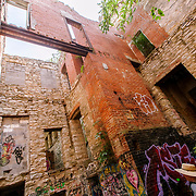 Walking tour of the historic Vine Street Workhouse near 18th & Vine in the Jazz District area in Kansas City, Missouri. The former jail was purchased by Daniel Edwards and cleaned up.