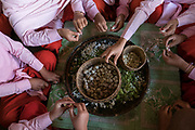 Young Nuns preparing food at Compassion and Peace Nunnery, Nyaung Shwe, Inle Lake, Myanmar