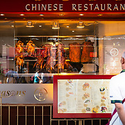 Restaurant window in Chinatown, London
