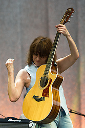 © Licensed to London News Pictures. 20/07/2014. Southwold, UK.   Chrissie Hynde performing live at Latitude Festival 2014 on Day 3.  The Latitude Festival is a British annual music festival.  Photo credit : Richard Isaac/LNP