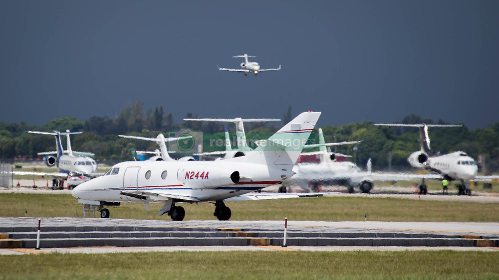 September 6, 2017 - West Palm Beach, Florida, U.S. - Aircraft at PBIA depart as hurricane Irma threatens South Florida. (Credit Image: © Allen Eyestone/The Palm Beach Post via ZUMA Wire)