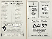 All Ireland Senior Hurling Championship Final, .Brochures,.05.09.1943, 09.05.1943, 5th September 1943, .Antrim 0-4, Cork 5-16,.Minor Dublin v Kilkenny, .Senior Antrim v Cork, .Croke Park, ..Dublin Minor Team, T O Domnallam, S O Catain, R O Catain, S Mac Loelainn, F O Maolcomad, S O Coclainn, G O Droin, D Laimbeart, T O Maolain, L Mac Donncard, P Breatnac, S O Meacair, C O hEacard, M O Faolain, T O Coirtealbaig, N O Dublain, A O Daoigil, D O hUllaig, O R O Neill, J Copeland,..Kilkenny Minor Team, Sean O Dornarve, Rirteard O Cairin, Daiti Breatnac, Padruig Stabaltun, Tomar O Riain, Sean O Murcada, Tomar O Murcada, Seumar O h-Irearnain, Martin O Riada, Bernard O Grogain, Seumar O Cloitiris, Sean O Monacain, Pilb Breatnac, Seoirre O Neill, Sean Spencer, Peadar O Concubair, Padruig O Teimneain, Padruig O Tuatail, ..Advertisements, Cavan v Roscommon Football Final, The Gaelteach Publishing Co., Schweppes Table Waters, CTC Central Tie Co., Hallidays Football Boots, .