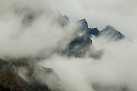 Richard Furhoff 100101_NewZealand_DSC4389.tif .Mist and Cloud in The Remarkables, New Zealand...