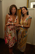 Heather Kerzner and Yasmin Mills. Michelle Watches Kaleidoscope Summer party. Home House. 15 June 2005 ONE TIME USE ONLY - DO NOT ARCHIVE  © Copyright Photograph by Dafydd Jones 66 Stockwell Park Rd. London SW9 0DA Tel 020 7733 0108 www.dafjones.com