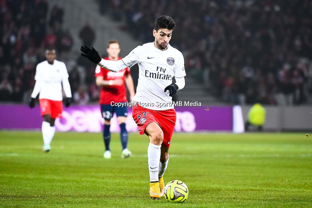 Javier PASTORE - 03.12.2014 - Lille / Paris Saint Germain - 16eme journee de Ligue 1 -<br />Photo : Fred Porcu / Icon Sport