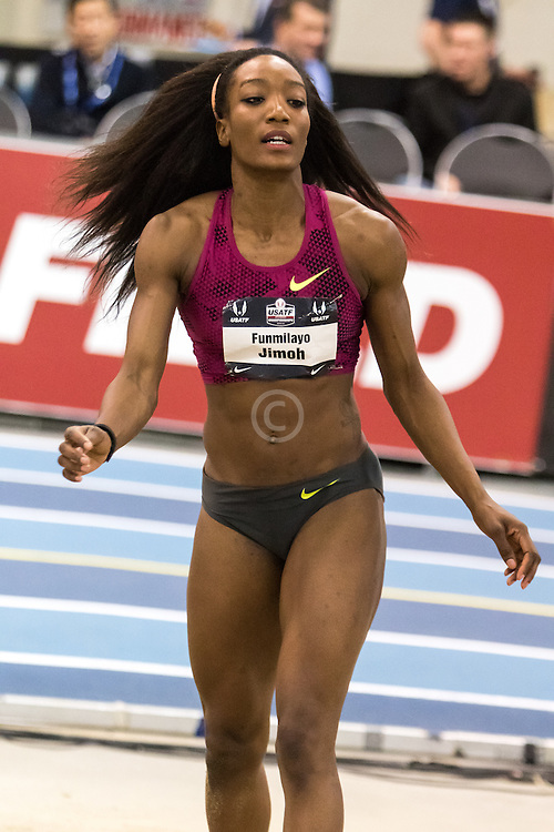 USATF Indoor Track & Field Championships: womens long jump, Funmi Jimoh, Nike