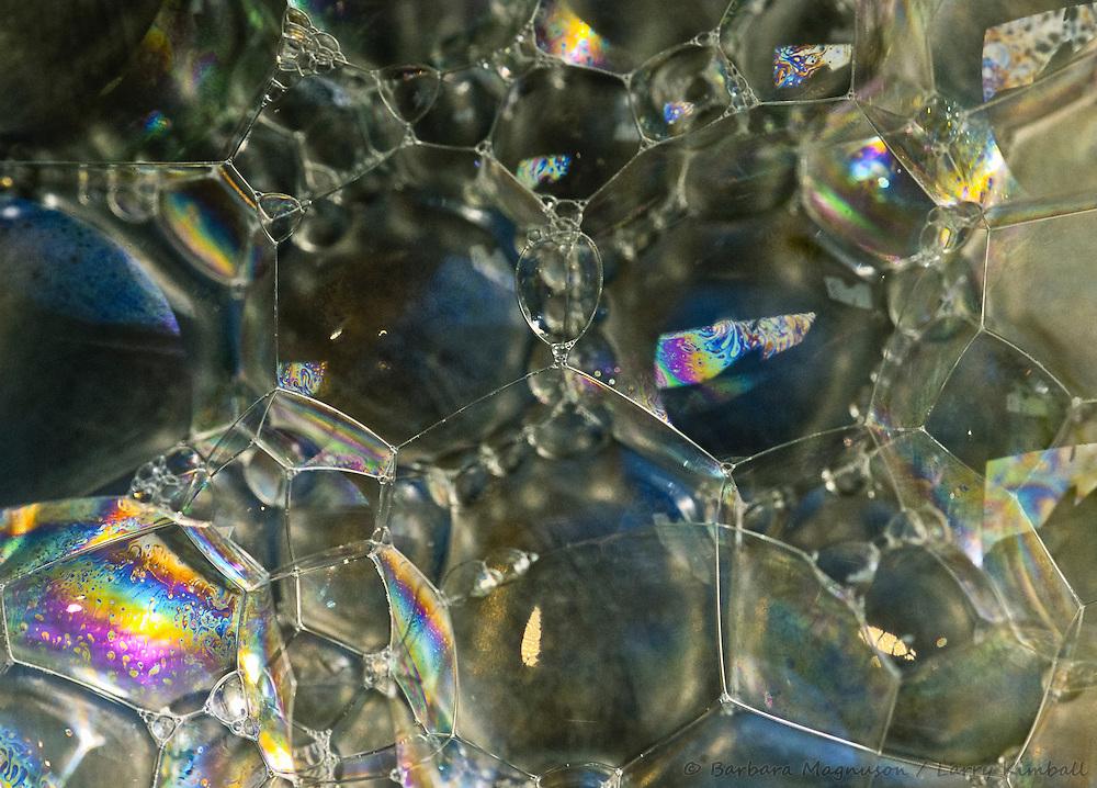 Soap bubbles, detail