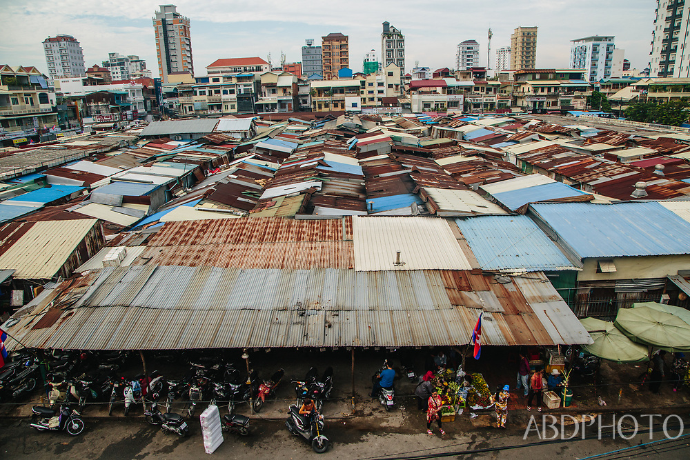 Phnom Penh Cambodia Tuol Tom Poung Market (Russian Market)