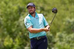 May 12, 2019 - Dallas, TX, U.S. - DALLAS, TX - MAY 12: Peter Uihlein hits his tee shot on #4 during the final round of the AT&T Byron Nelson on May 12, 2019 at Trinity Forest Golf Club in Dallas, TX. (Photo by Andrew Dieb/Icon Sportswire) (Credit Image: © Andrew Dieb/Icon SMI via ZUMA Press)