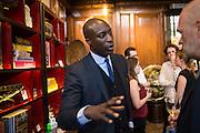 OSWALD BOATENG, Charles Finch, Efe Cakarel & Hikari Yokoyama celebrate  Mubi with Doug Aitken.  Maison Assouline. Piccadilly. London. 25 June 2015