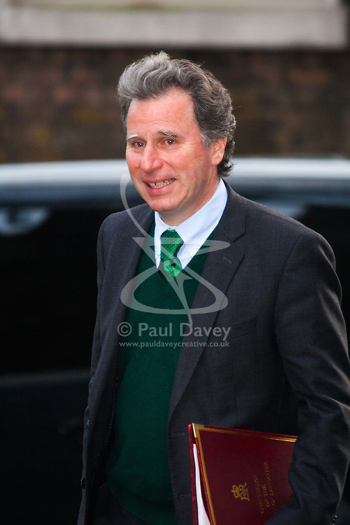 Downing Street, London, January 27th 2015. Ministers attend the weekly cabinet meeting at Downing Street. PICTURED: Minister for Government Policy, Oliver Letwin