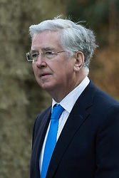 Downing Street, London, February 23rd 2016. Defence Secretary Michael Fallon arrives at the weekly cabinet meeting.  ©Paul Davey<br /> FOR LICENCING CONTACT: Paul Davey +44 (0) 7966 016 296 paul@pauldaveycreative.co.uk