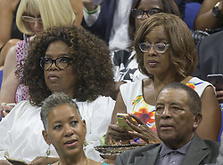 Sept. 8, 2015 - Flushing Meadows, New York, U.S - Oprah Winfrey (L), Gayle King attend the match between Serena Williams and Venus Williams on Day Nine of the 2015 US Open at the USTA Billie Jean King National Tennis Center on Tuesday September 8, 2015 in the Flushing neighborhood of the Queens borough of New York City. (Credit Image: © Prensa Internacional via ZUMA Wire)
