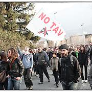 manifestazione No tav Bussoleno in Val Susa il 3 marzo 2012