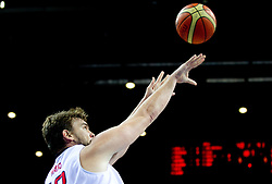 Marc Gasol of Spain during final basketball game between National basketball teams of Spain and France at FIBA Europe Eurobasket Lithuania 2011, on September 18, 2011, in Arena Zalgirio, Kaunas, Lithuania. (Photo by Vid Ponikvar / Sportida)