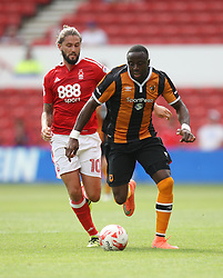 Adama Diomande of Hull City and Henri Lansbury of Nottingham Forest (L) in action - Mandatory by-line: Jack Phillips/JMP - 30/07/2016 - FOOTBALL - The City Ground - Nottingham, England - Nottingham Forest v Hull City - Pre-Season Friendly