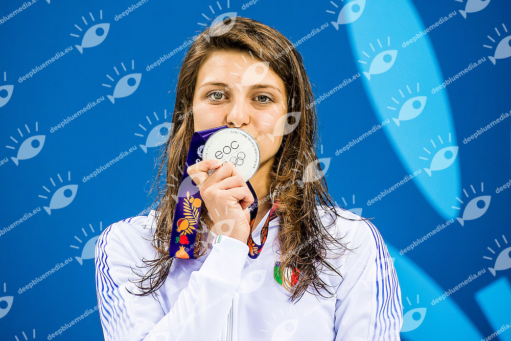 VERONA Giulia ITA<br /> 100 Breaststroke Women Final Swimming Silver Medal<br /> 1st European Olympic Games <br /> Baku Azerbaijan 12-28/06/2015<br /> Photo Andrea Masini/Deepbluemedia/Insidefoto