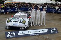 Frederic MAKOWIECKI (FRA) / Earl BAMBER (NZL) / Jorg BERGMEISTER (DEU)  #92 PORSCHE MOTORSPORT PORSCHE 911 RSR (2016),  during the Le Mans 24 Hr June 2016 at Circuit de la Sarthe, Le Mans, Pays de la Loire, France. June 12 2016. World Copyright Peter Taylor/PSP.