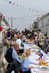 Brighton, UK. 29/04/2011. The Royal Wedding of HRH Prince William to Kate Middleton. Residents enjoy a street party in Brighton at West Hill Terrace. Photo credit should read: Peter Webb/LNP. Please see special instructions for licensing information. © under license to London News Pictures