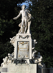 Statue of Wolfgang Amadeus Mozart, Burggarten, Vienna, Wien, Austria