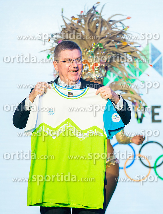 Thomas Bach, IOC president during official presentation of the Designer wear for Slovenian Athletes at Rio Summer Olympic Games 2016, on April 15, 2016 in Hotel Lev, Ljubljana, Slovenia. Photo by Vid Ponikvar / Sportida