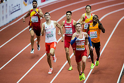 Rafał Omelko of Poland, Benjamin Lobo Vedel of Denmark, Pavel Maslák of Czech Republic, Liemarvin Bonevacia of Netherlands compete in the 400m Men Final on day two of the 2017 European Athletics Indoor Championships at the Kombank Arena on March 4, 2017 in Belgrade, Serbia. Photo by Vid Ponikvar / Sportida