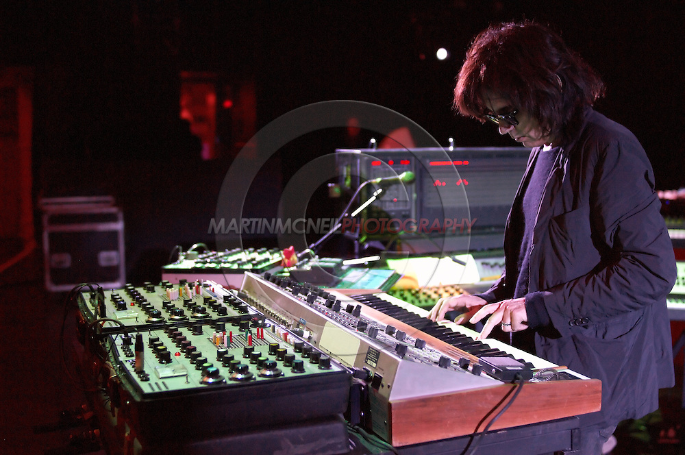 Jarre plays a melody line from Oxygene IV on a MemoryMoog synthesizer