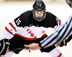 Mitchell Balmas of the Charlottetown Islanders represented Team Canada White in the 2014 World Under-17 Hockey Challenge in Sarnia and Lambton, ON November 2-8, 2014. Photo by Aaron Bell/CHL Images