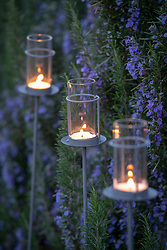 Garden T candle holder stakes
