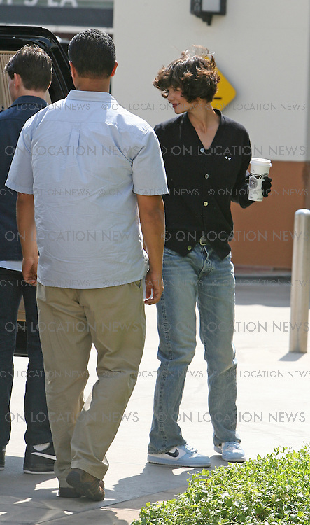 TOM CRUISE, KATIE HOLMES..LOS ANGELES, CALIFORNIA - TUESDAY 15TH JULY 2008 NON EXCLUSIVE: Tom Cruise and daughter Suri accompany Katie Holmes to the set of the Television show 'Eli Stone' in which she has a guest starring role for an episode.  Katie Holmes mother also came to set to watch her daughter work. Filming took place at Downtown Los Angeles' famous Union Station Train Terminal. Photograph: On Location News. Sales: Eric Ford 1/818-613-3955 info@OnLocationNews.com