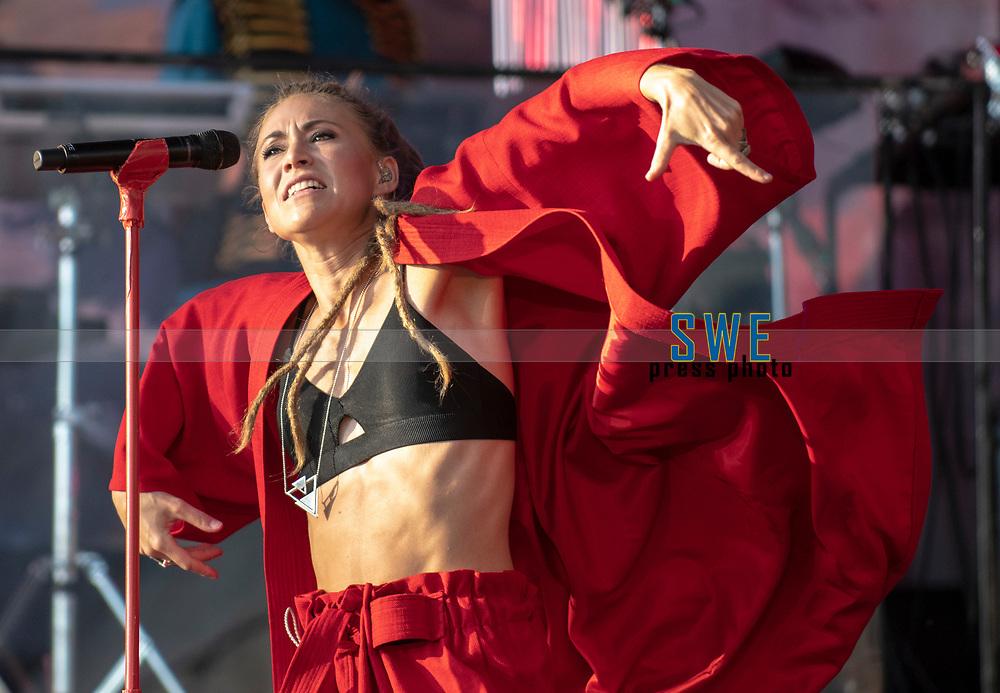 2018-07-06 | Hok, Sweden: Mariette during the Diggiloo show at Hooks Herrg&aring;rd ( Photo by: Marcus Vilson | Swe Press Photo )<br /> <br /> Keywords: Artists, Diggiloo, Show, Singers, Sweden, Tour, Music, Hok, Hooks Herrg&aring;rd, Mariette