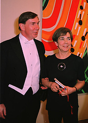 The Lord Chancellor LORD IRVINE OF LAIRG and LADY IRVINE, at a dinner in London on 21st April 1998.MHX 101