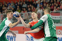handball match between National teams of Denmark and Hungary on Day 2 in Preliminary Round of Men's EHF EURO 2018, on Januar 13, 2018 in Skolsko Sportska Dvorana, Varazdin, Croatia. Photo by Mario Horvat / Sportida