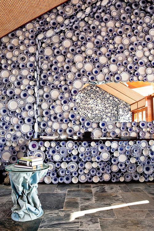 "Iniala Luxury Residence,The Campana ""Golden Sea"" living room by Fernando and Humberto Campana, Brazil"