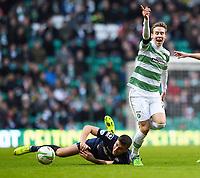 27/12/14 SCOTTISH PREMIERSHIP<br /> CELTIC v ROSS COUNTY<br /> CELTIC PARK - GLASGOW<br /> Celtic's Stefan Johansen (right) battles with Filip Kiss