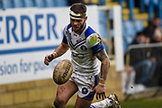 Mike Butt (1) of Swinton Lions during the Betfred Championship match between Featherstone Rovers and Halifax RLFC at the Big Fellas Stadium, Featherstone, United Kingdom on 9 February 2020.
