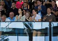 Copenhagen, 15-04-2016<br /> <br /> Crown Prince Frederik and Crown Princess Mary attend the qualification regatta Danish Open at the Bellah&oslash;j Swimming Stadium<br /> <br /> ROYALPORTRAITS EUROPE BERNARD RUEBSAMEN