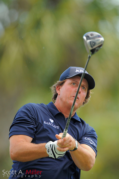 Phil Mickelson during the third round of the World Golf Championship Cadillac Championship on the TPC Blue Monster Course at Doral Golf Resort And Spa on March 10, 2012 in Doral, Fla. ..©2012 Scott A. Miller.
