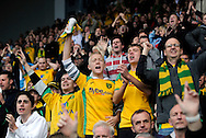 Carlisle - Saturday October 10th, 2009: Norwich City fans celebrate their win during the Coca Cola League One match at Brunton Park, Carlisle. (Pic by Jed Wee/Focus Images)..