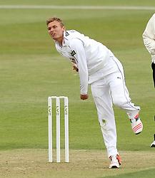 Hampshire's Danny Briggs bowls - Photo mandatory by-line: Robbie Stephenson/JMP - Mobile: 07966 386802 - 21/06/2015 - SPORT - Cricket - Southampton - The Ageas Bowl - Hampshire v Somerset - County Championship Division One